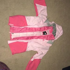 Girls north face coat and inner jacket